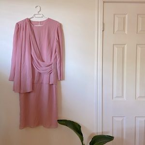 Vintage Algo Blush Pink Dress